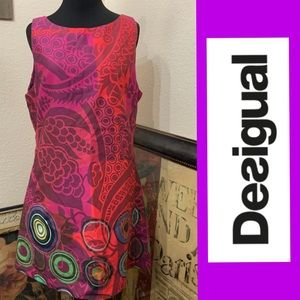 Desigual Retro Mod Fitted Dress Vest Aire NWT